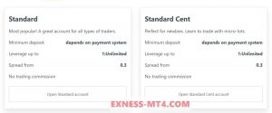 Standard and Cent Account